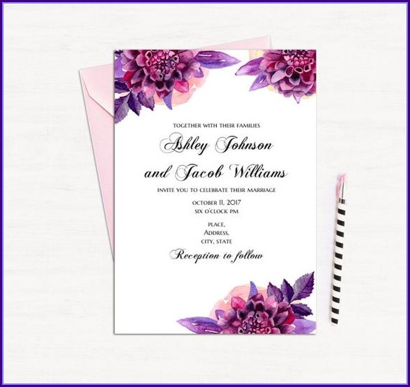 Templates For Wedding Invitation Cards