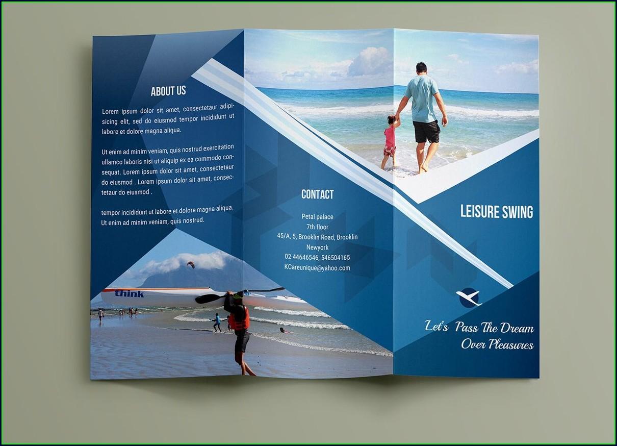 Tri Fold Brochure Blank Template Free