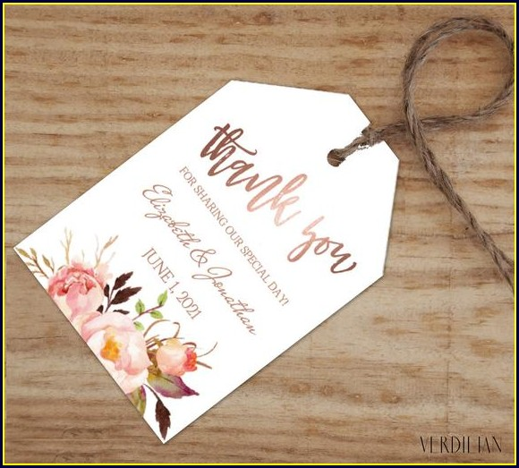 Wedding Favor Labels Template