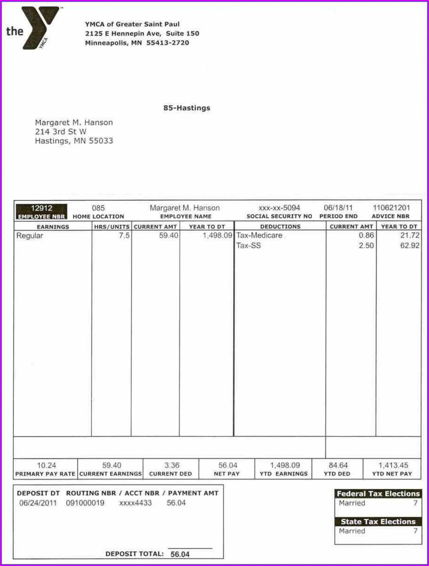 1099 Pay Stub Template Free