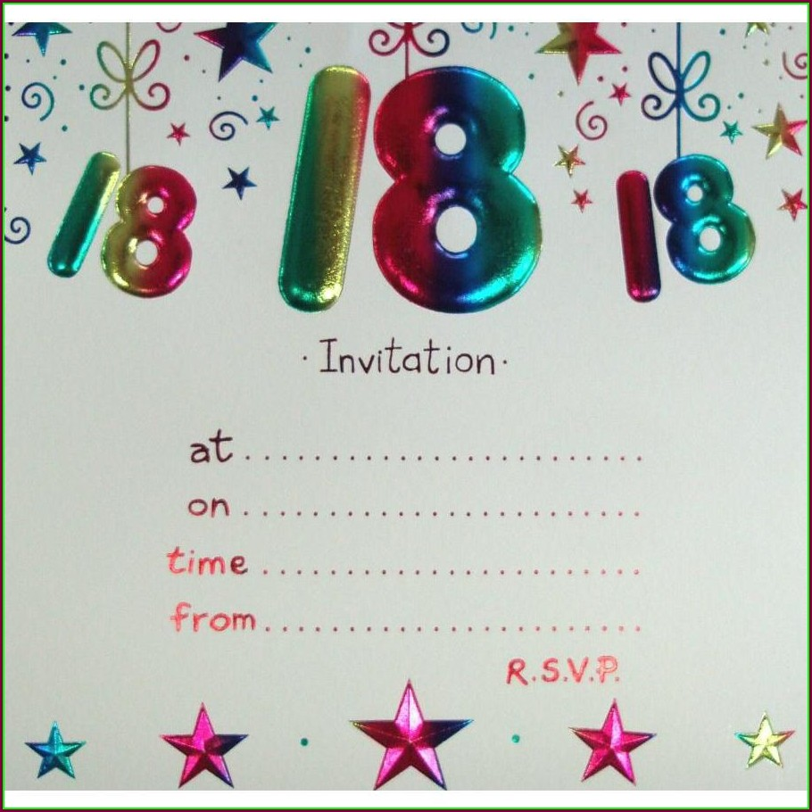 18th Birthday Invitation Template Free