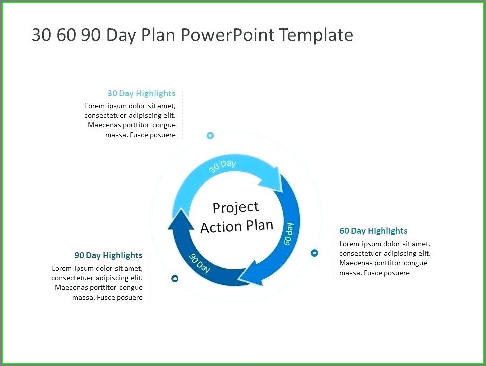 30 60 90 Day Plan Template Sales Manager