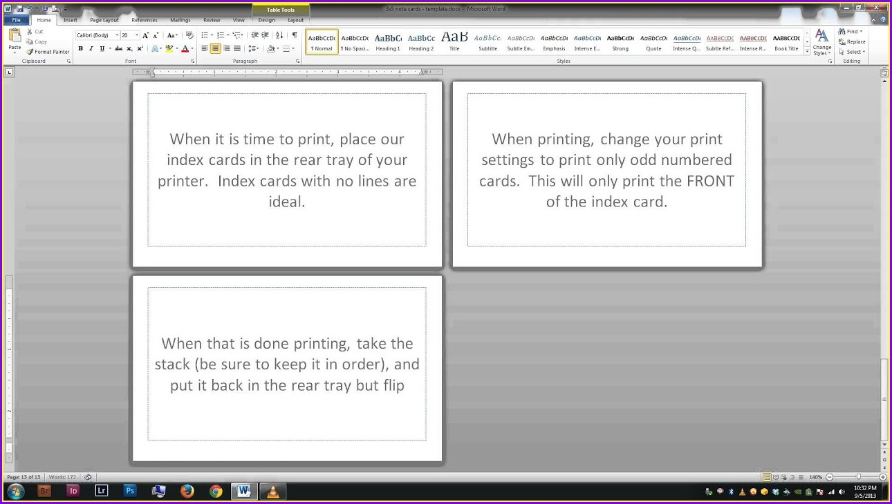 4 By 6 Index Card Template Google Docs