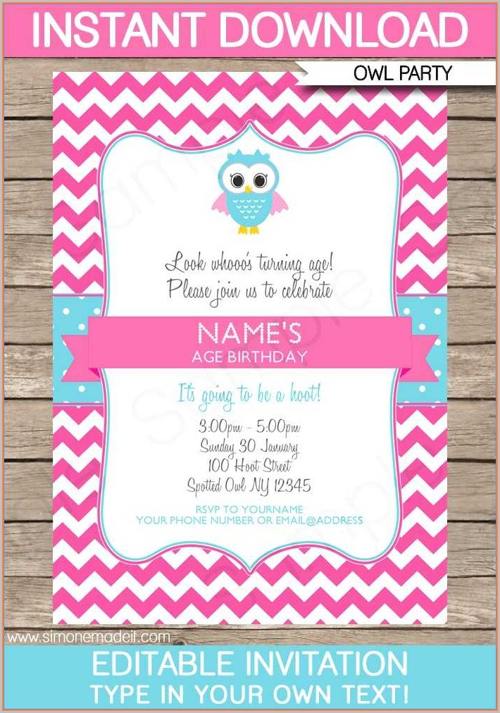 40th Birthday Invitation Templates For Her