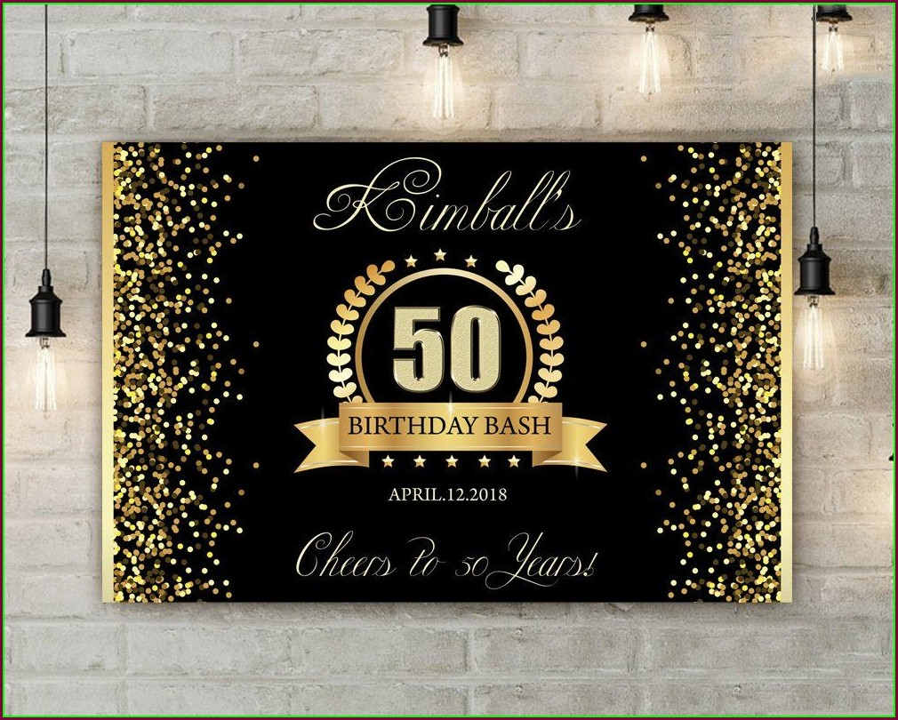 50th Birthday Banner Template
