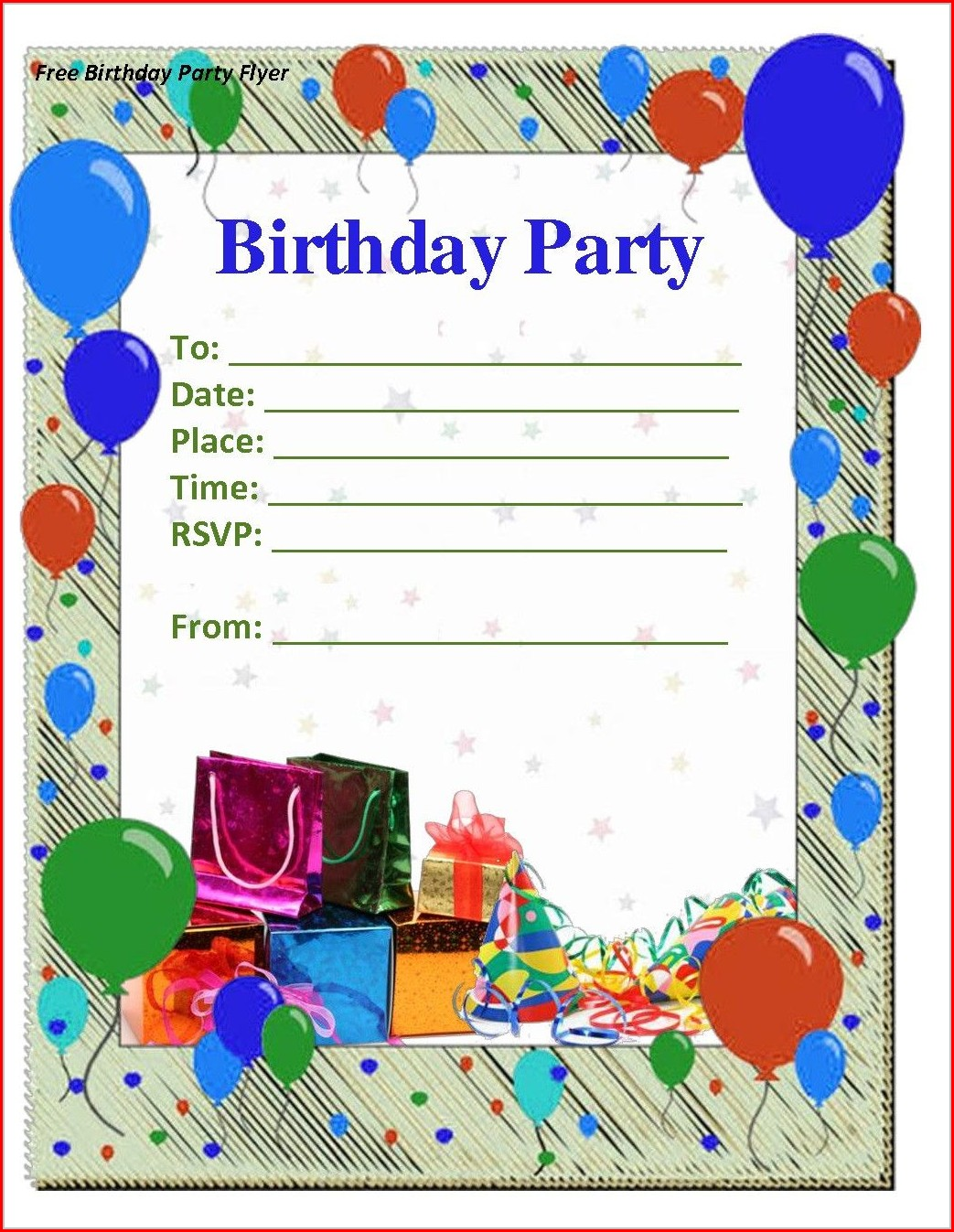 80th Birthday Invitation Template Free