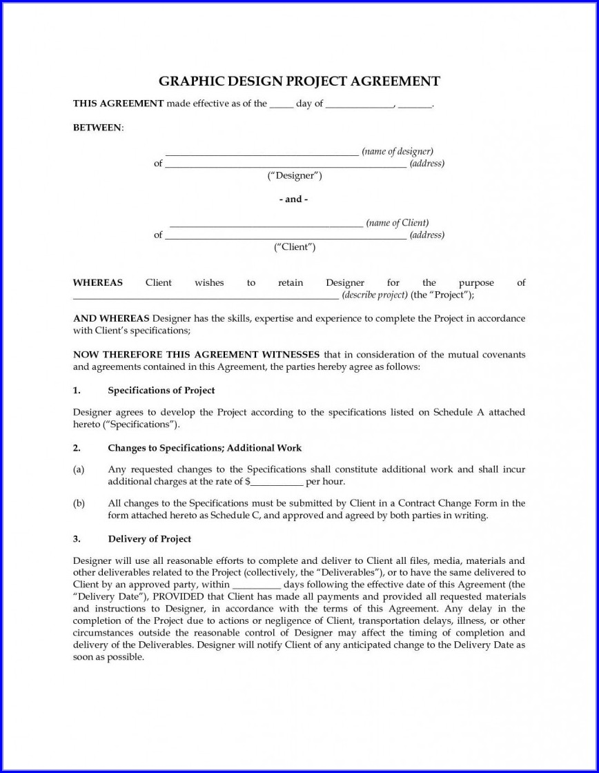 Agreement Freelance Graphic Design Contract Template Pdf