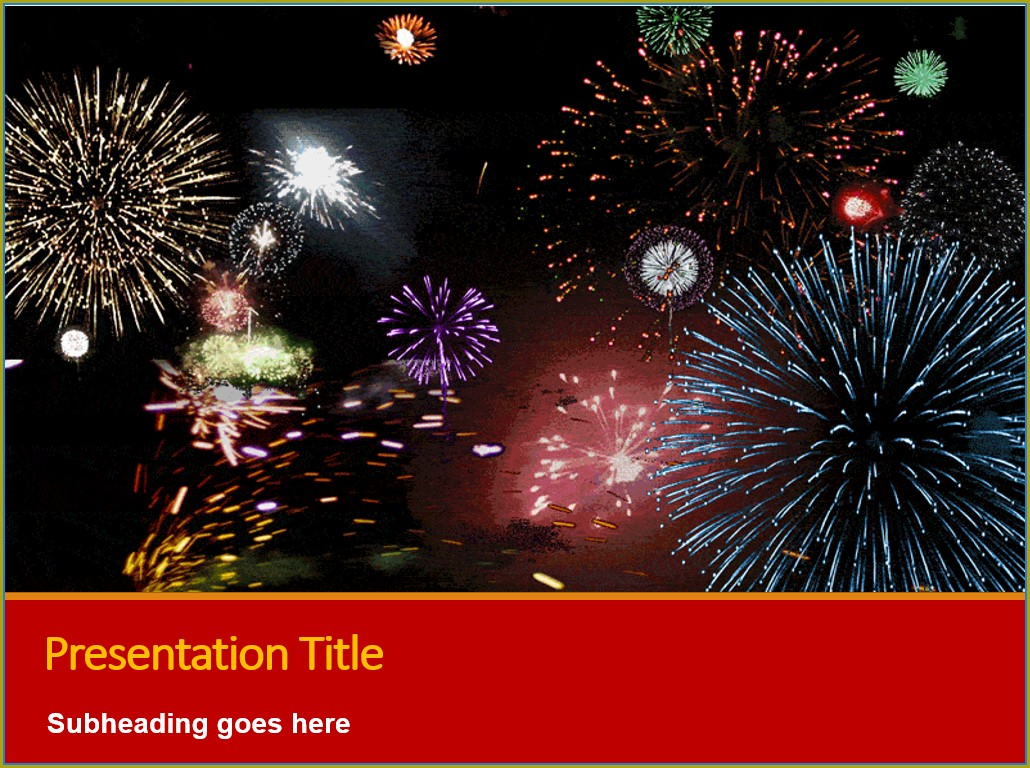 Animated Fireworks Powerpoint Templates