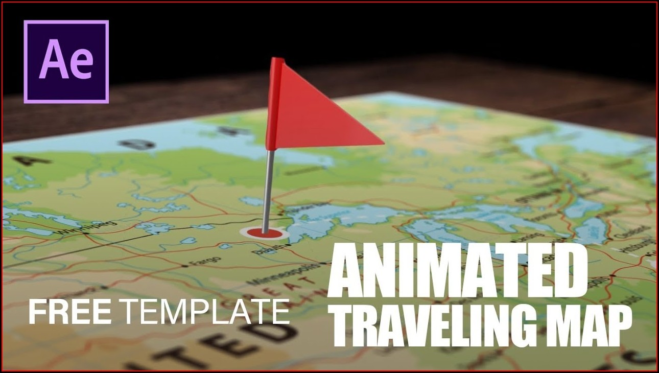 Animated Map Path After Effects Template