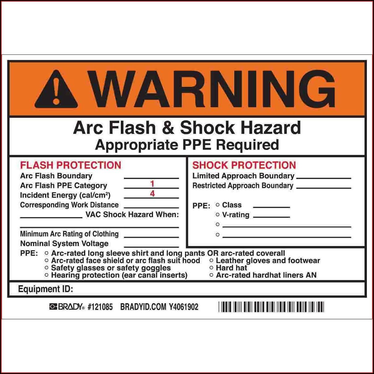 Arc Flash Safety Program Template