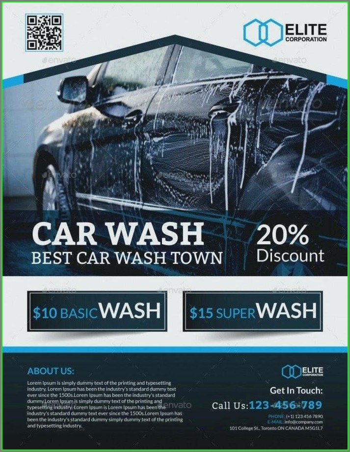 Auto Detailing Flyer Template Free Download