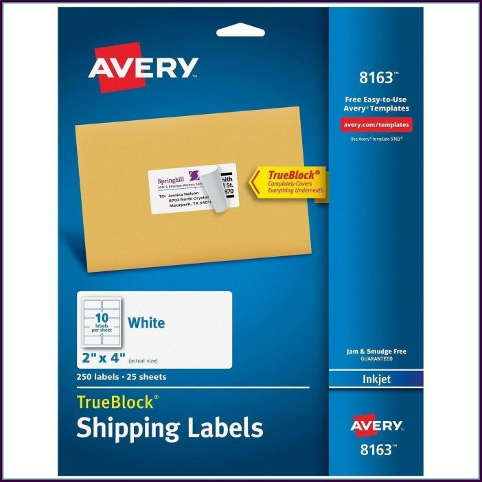 Avery Return Address Labels Template