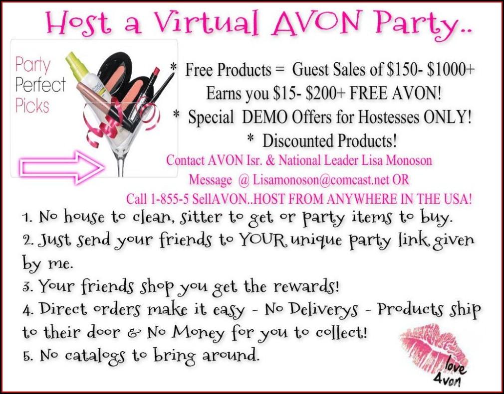 Avon Party Invitation Templates