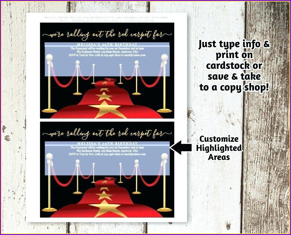 Award Show Invitation Template