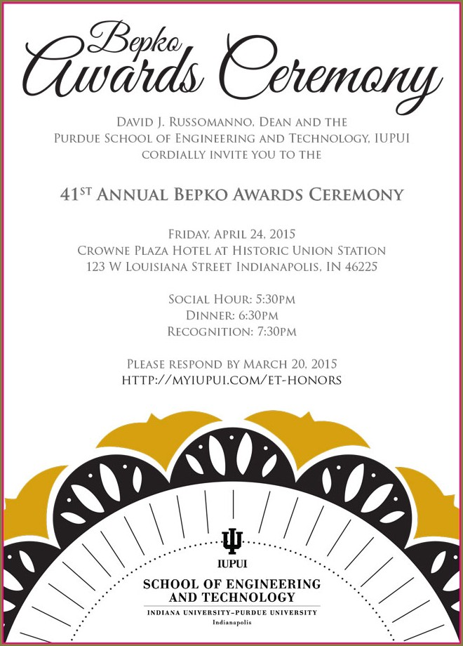 Awards Ceremony Invitation Template
