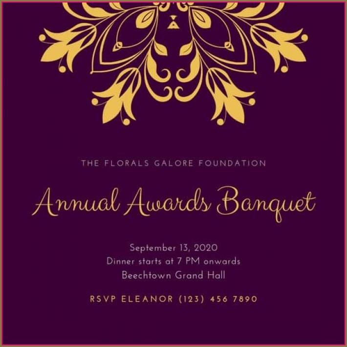 Awards Dinner Invitation Templates