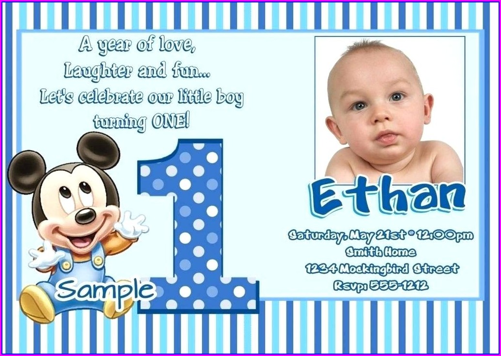 Baby Boy 1st Birthday Invitations Boy Templates Free