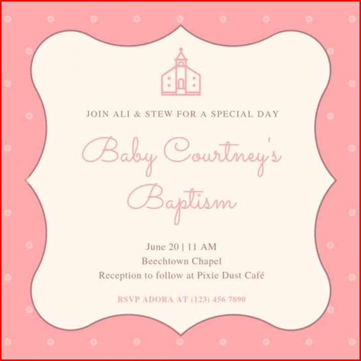 Baby Dedication Invitation Templates Free Download