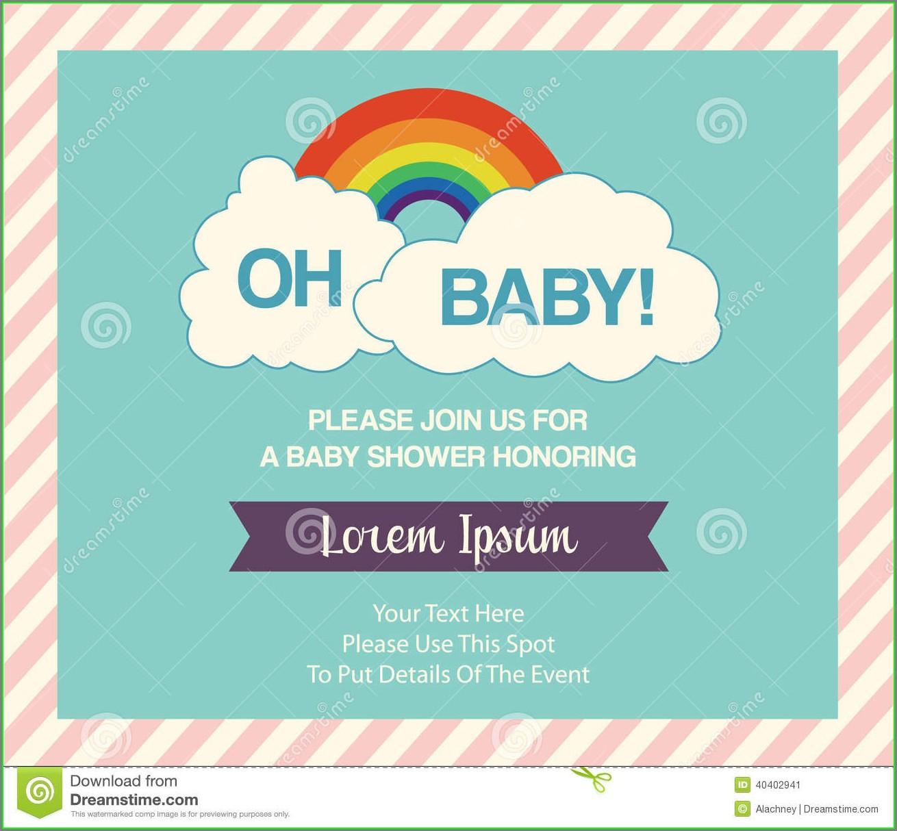 Baby Shower Invitation Templates Online