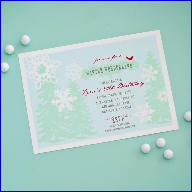 Baby Shower Winter Wonderland Invitation Template
