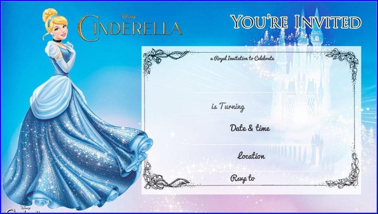 Background Blank Cinderella Invitation Template