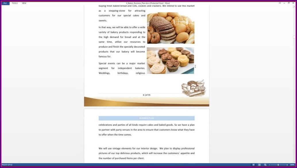 Bakery Business Plan Template Free