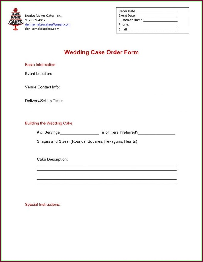 Bakery Invoice Template Excel