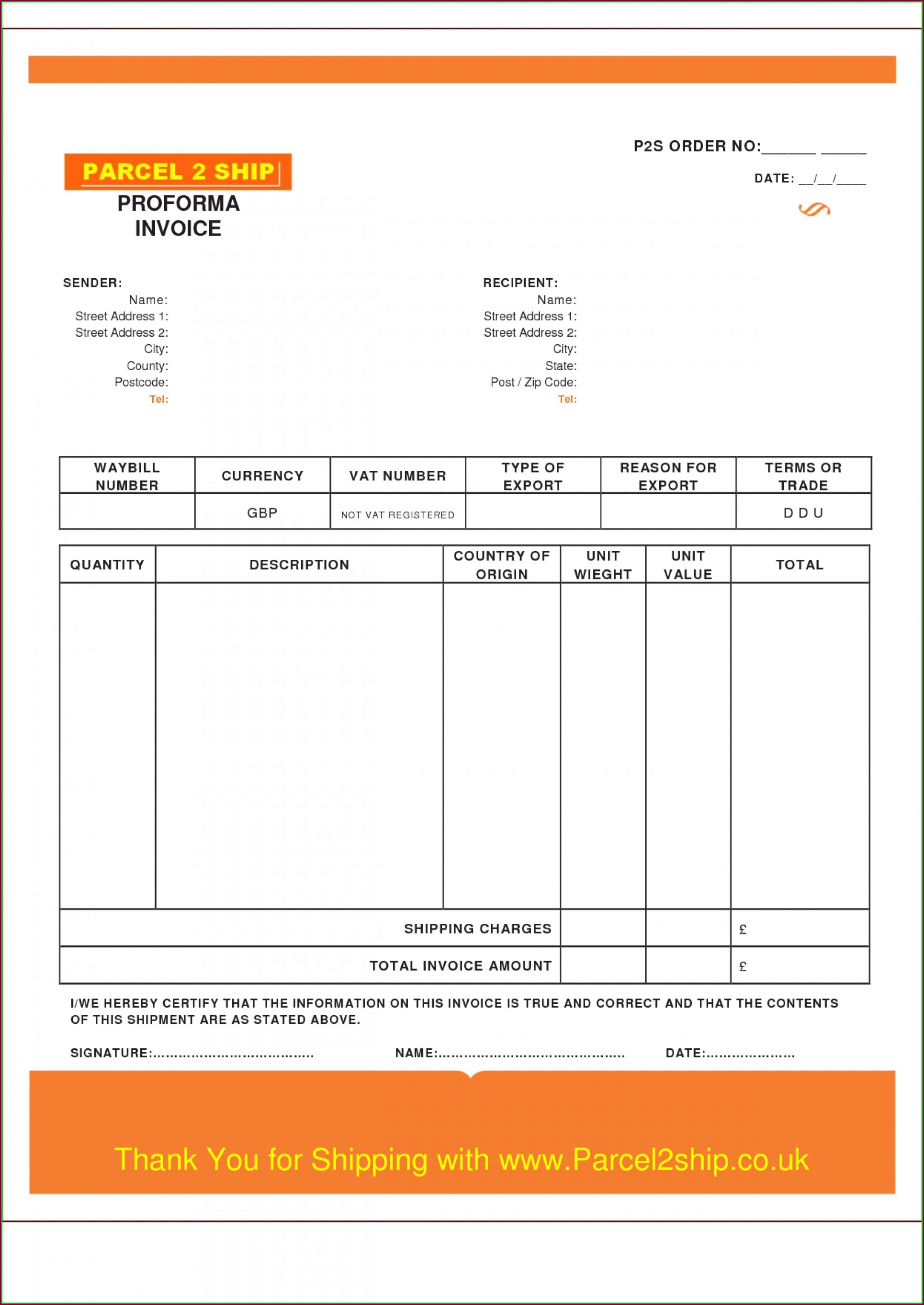 Bakery Invoice Template Word
