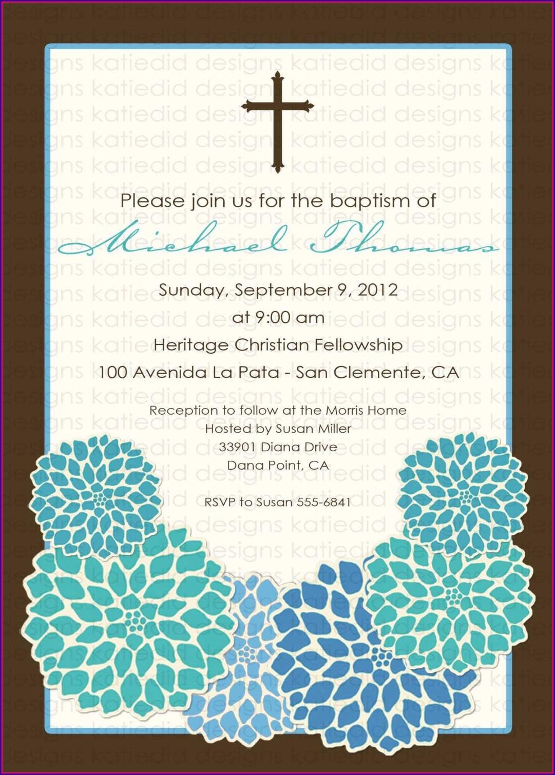 Baptism Invitations In Spanish Template