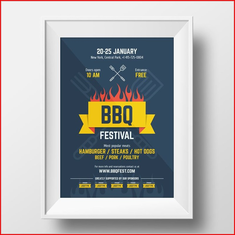 Barbecue Ticket Template