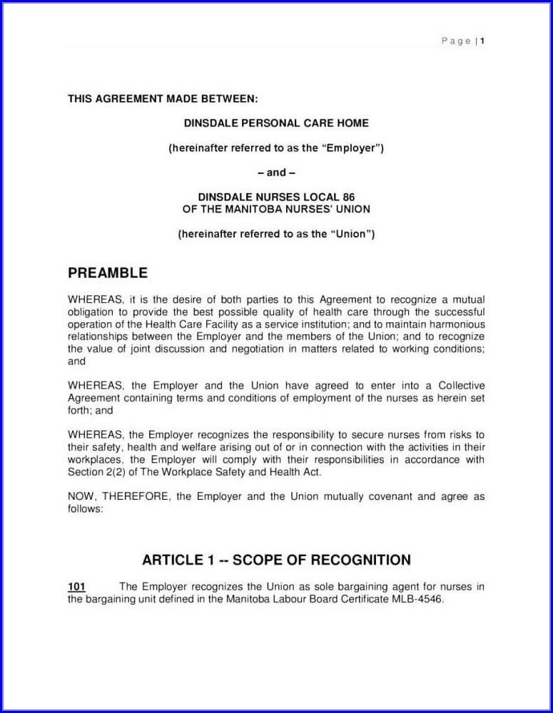 Barter Trade Agreement Template