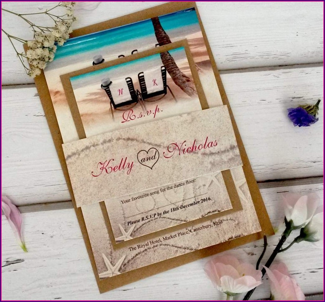 Beach Wedding Invitation Templates Free