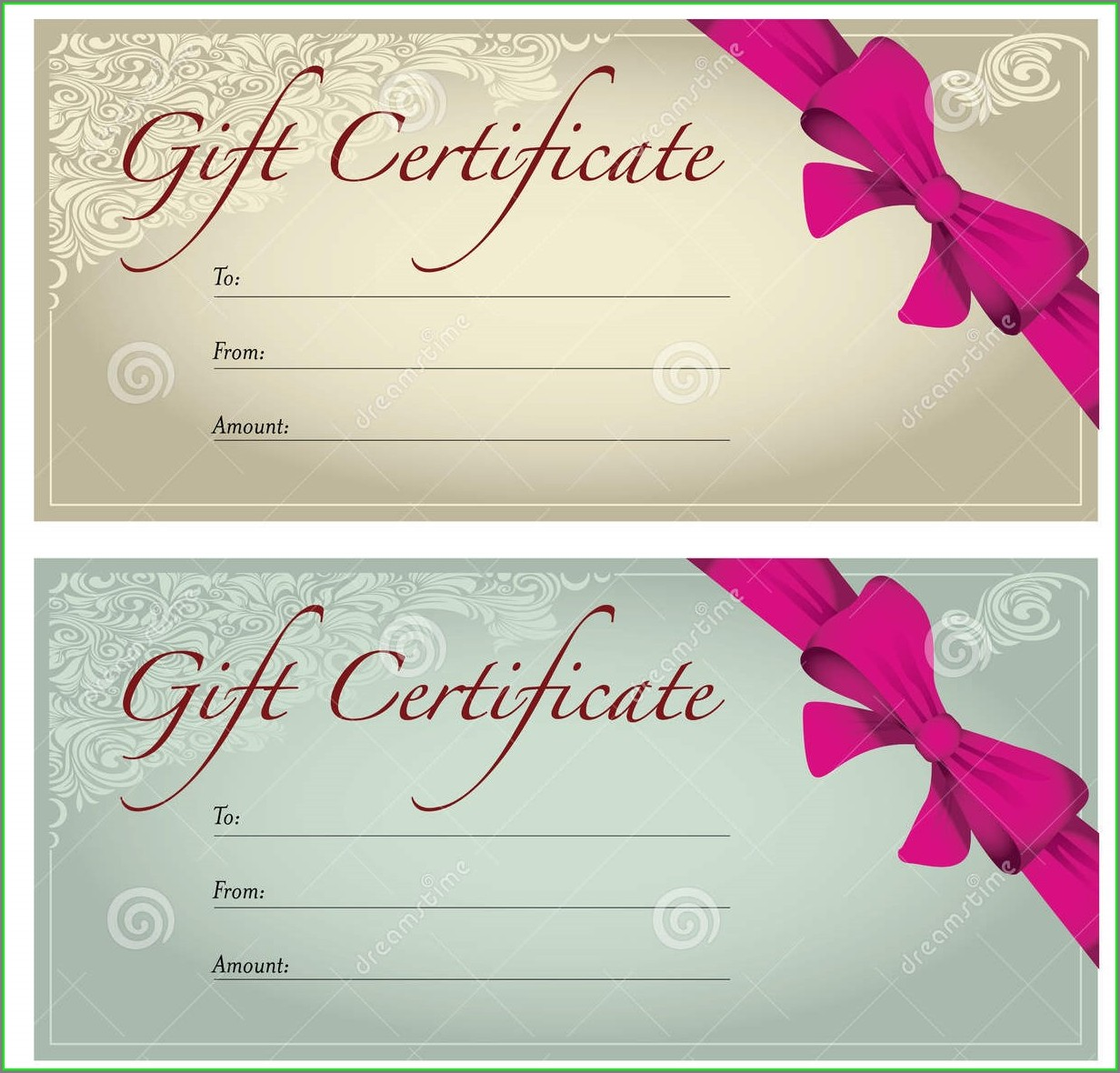 Beauty Gift Certificate Template Free