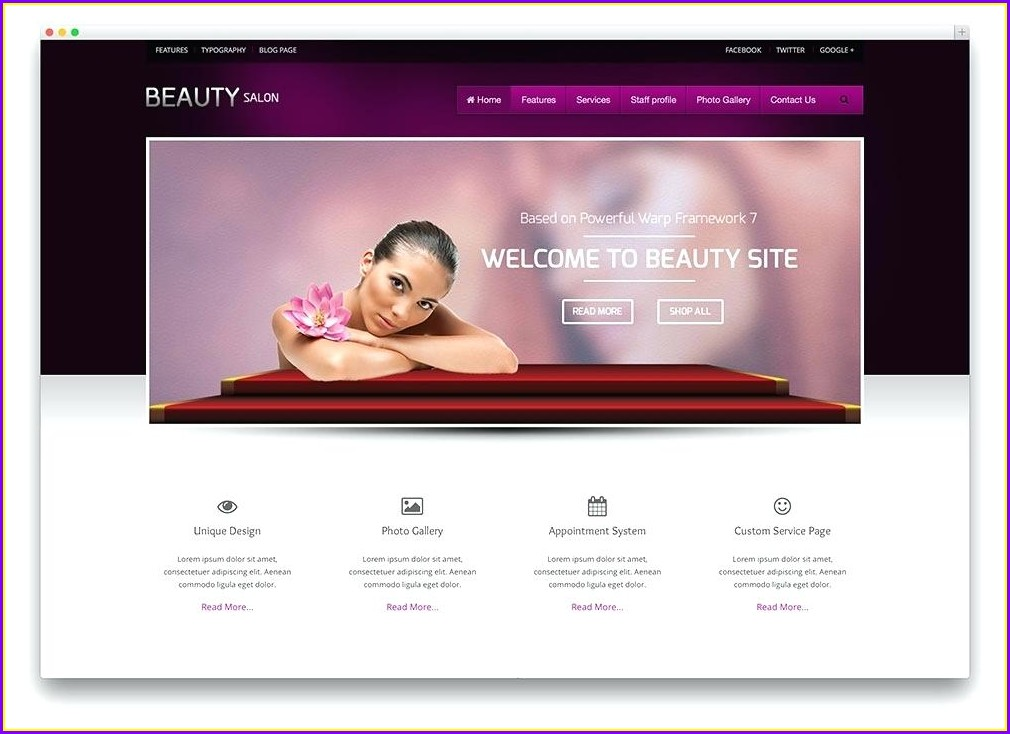 Beauty Parlour Visiting Card Templates Free Download