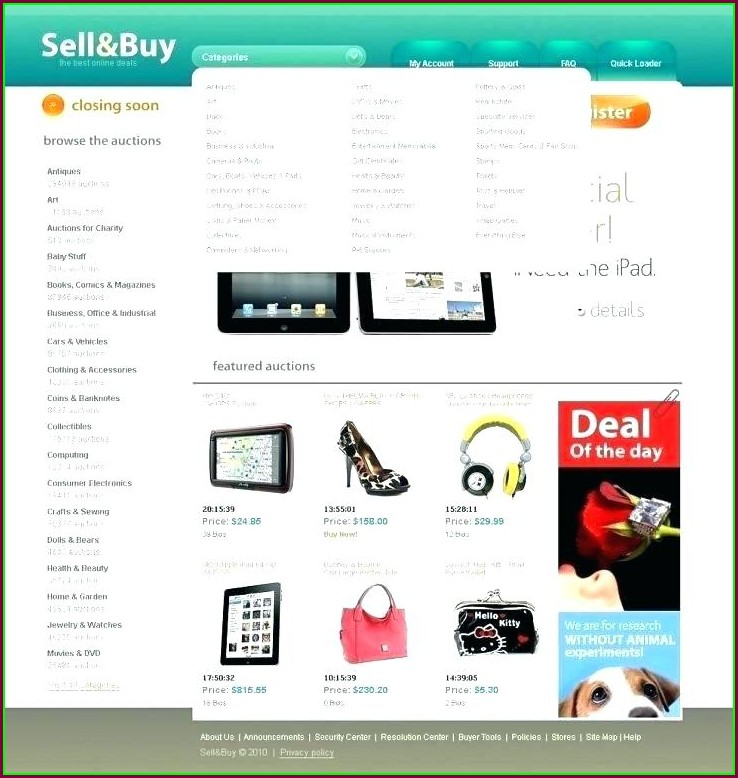 Bidding Website Template