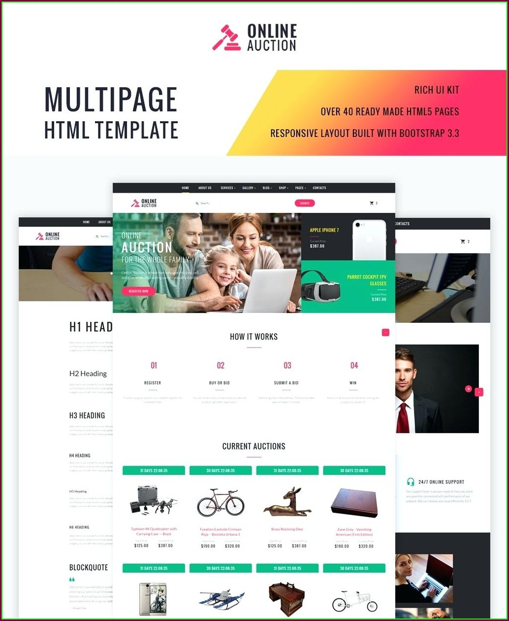Bidding Website Templates Free Download
