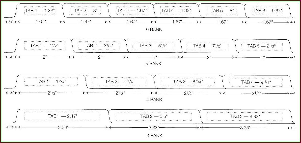 Binder Divider Tabs Template