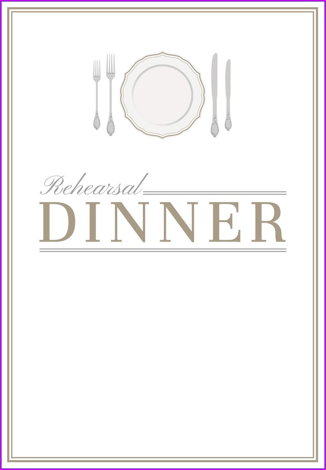 Birthday Dinner Invitation Template Free