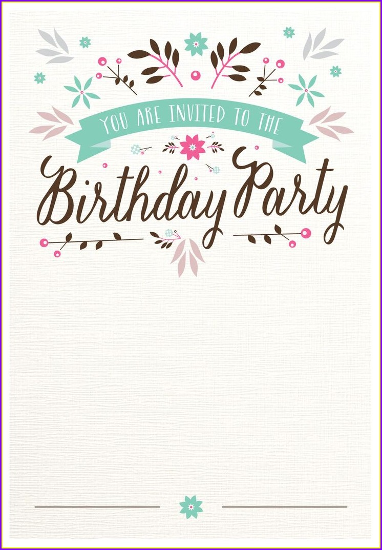 Birthday Invitation Templates Pinterest