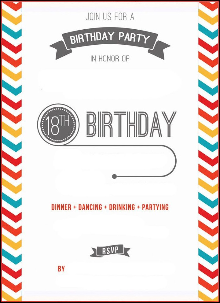 Blank 16th Birthday Party Invitations Templates Free