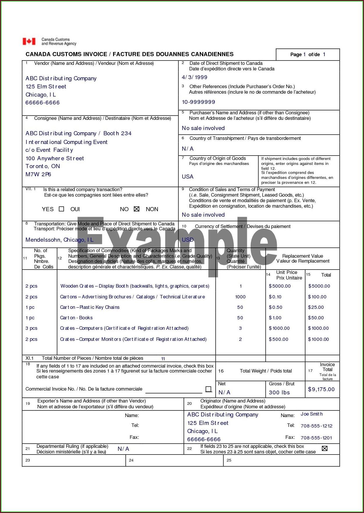 Blank Auto Repair Invoice Template