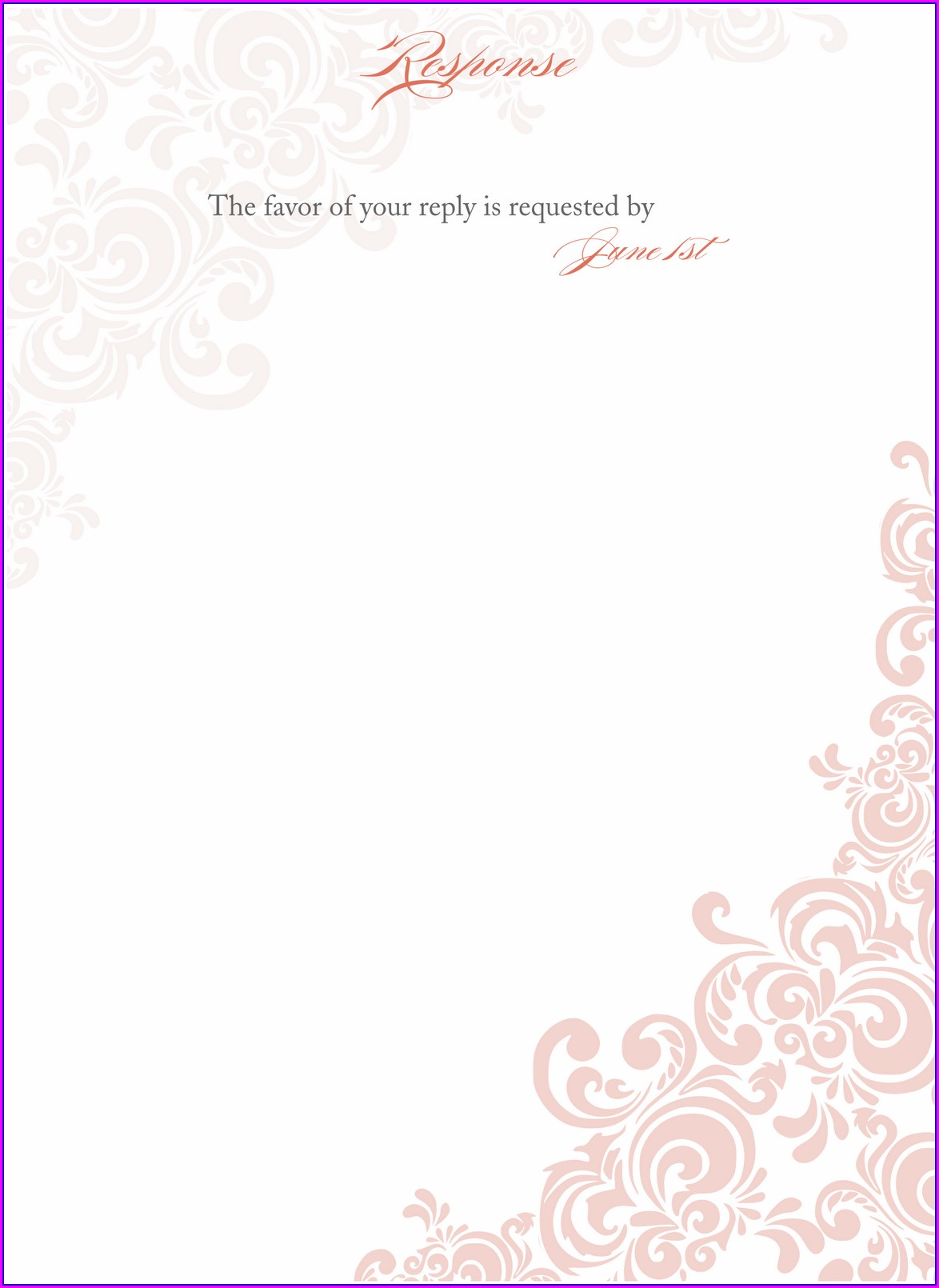 Blank Birthday Invitation Template Free