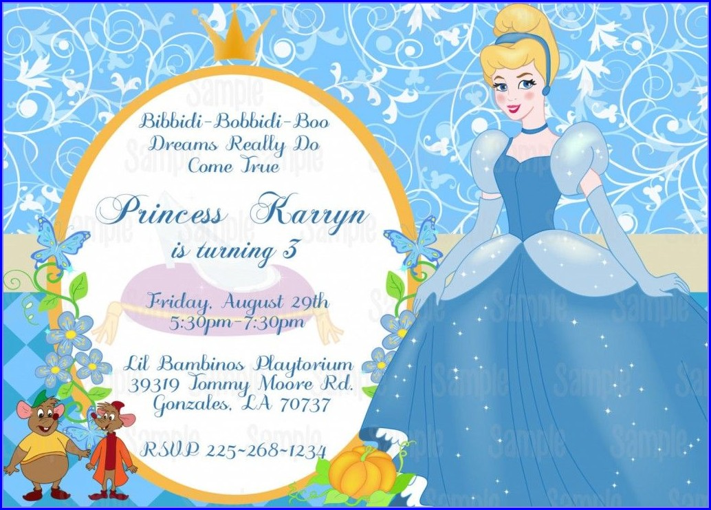Blank Cinderella Invitation Template