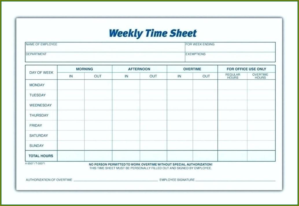 Blank Employee Schedule Template