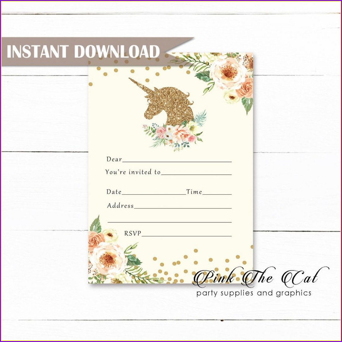Blank Free Christening Invitation Templates Download