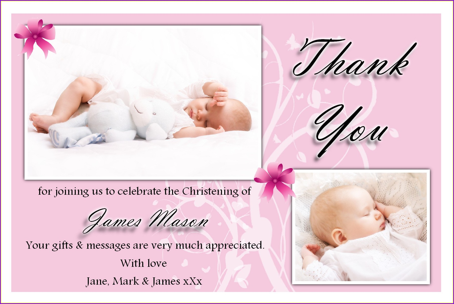 Blank Free Christening Invitation Templates Photoshop
