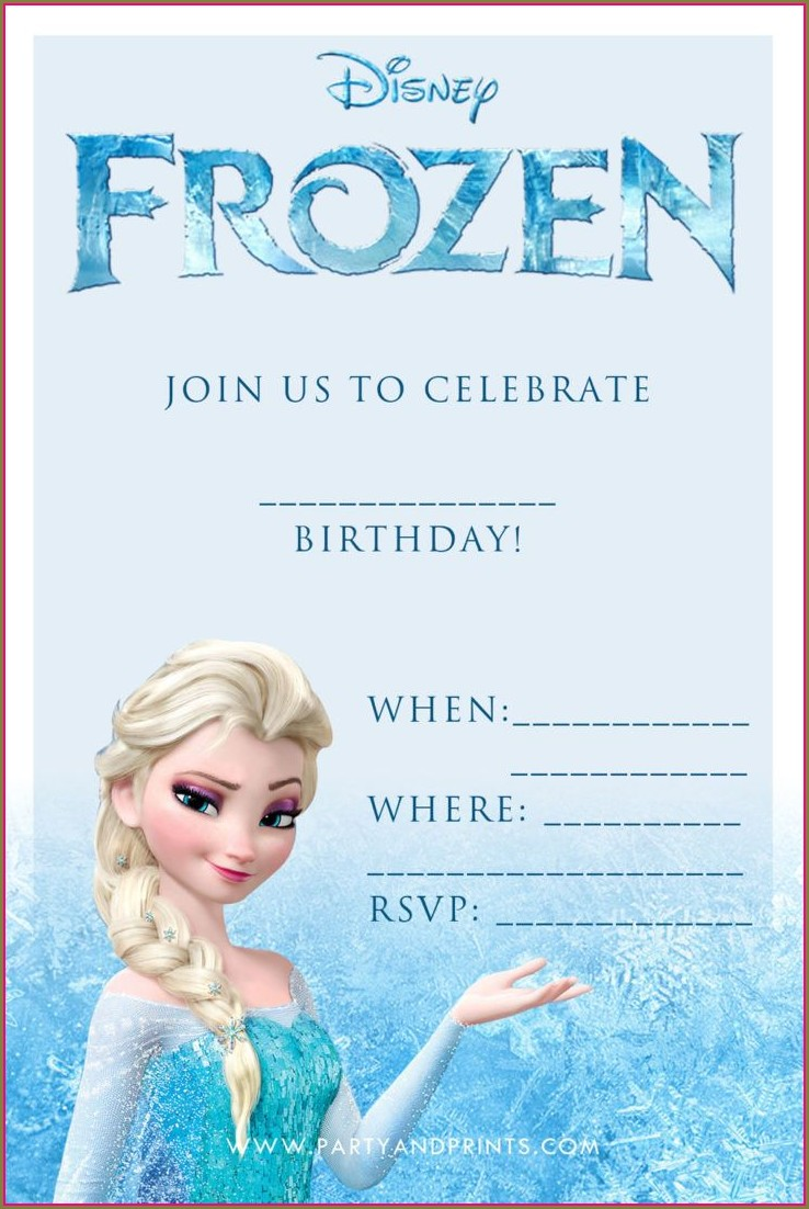 Blank Frozen Party Invitation Template