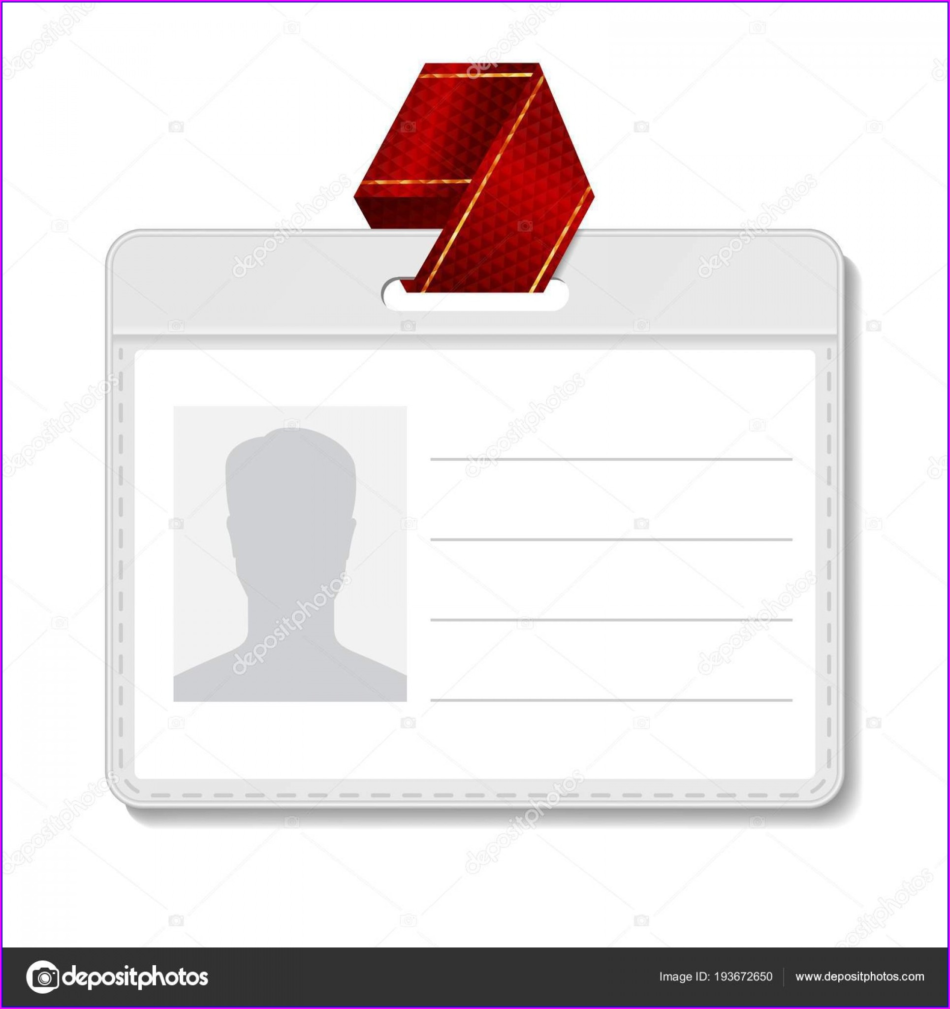 Blank Id Badge Template