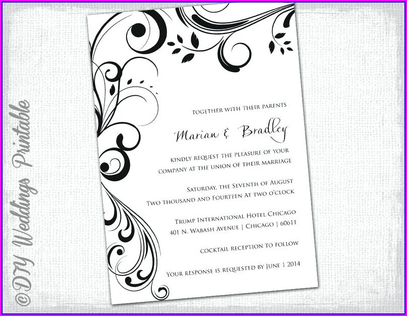 Blank Medieval Invitation Template