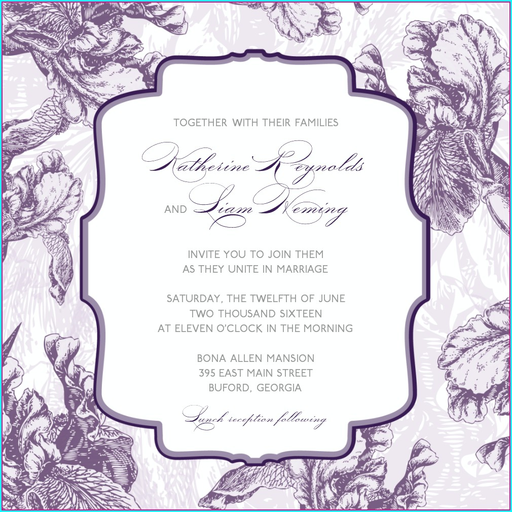 Blank Owl Invitation Template